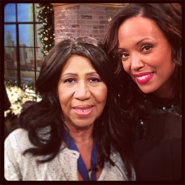 Aretha Franklin and Aisha Tyler