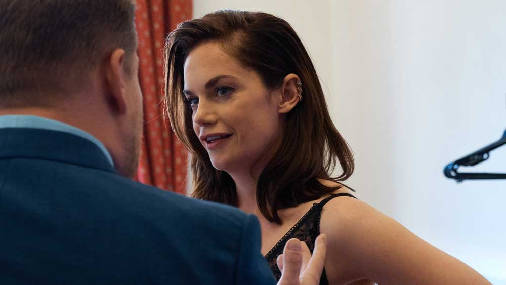 That looks like an expensive hanger behind Ruth Wilson.