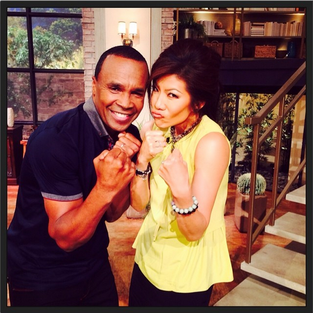 Sugar Ray Leonard and Julie Chen
