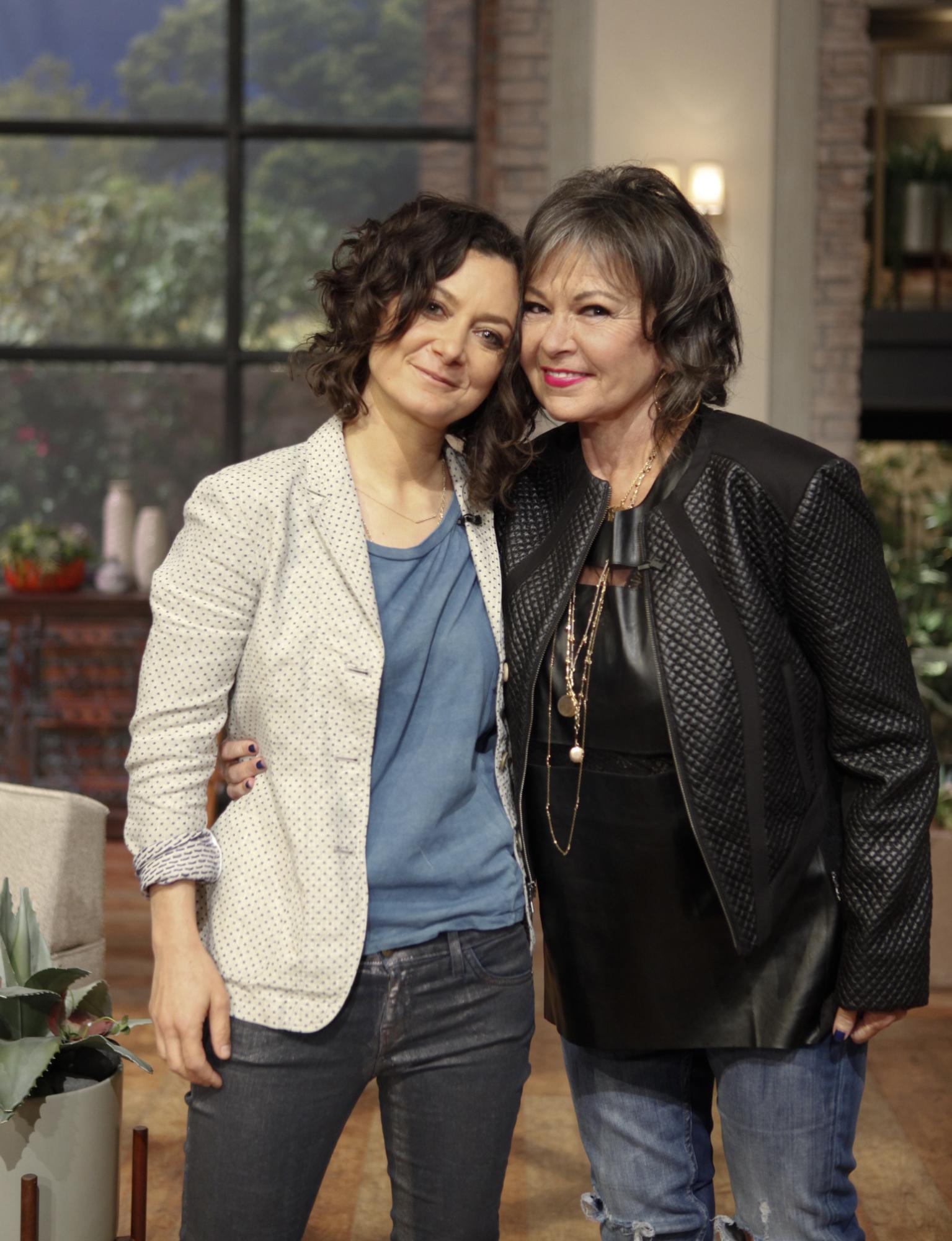 Roseanne Barr with Sara Gilbert