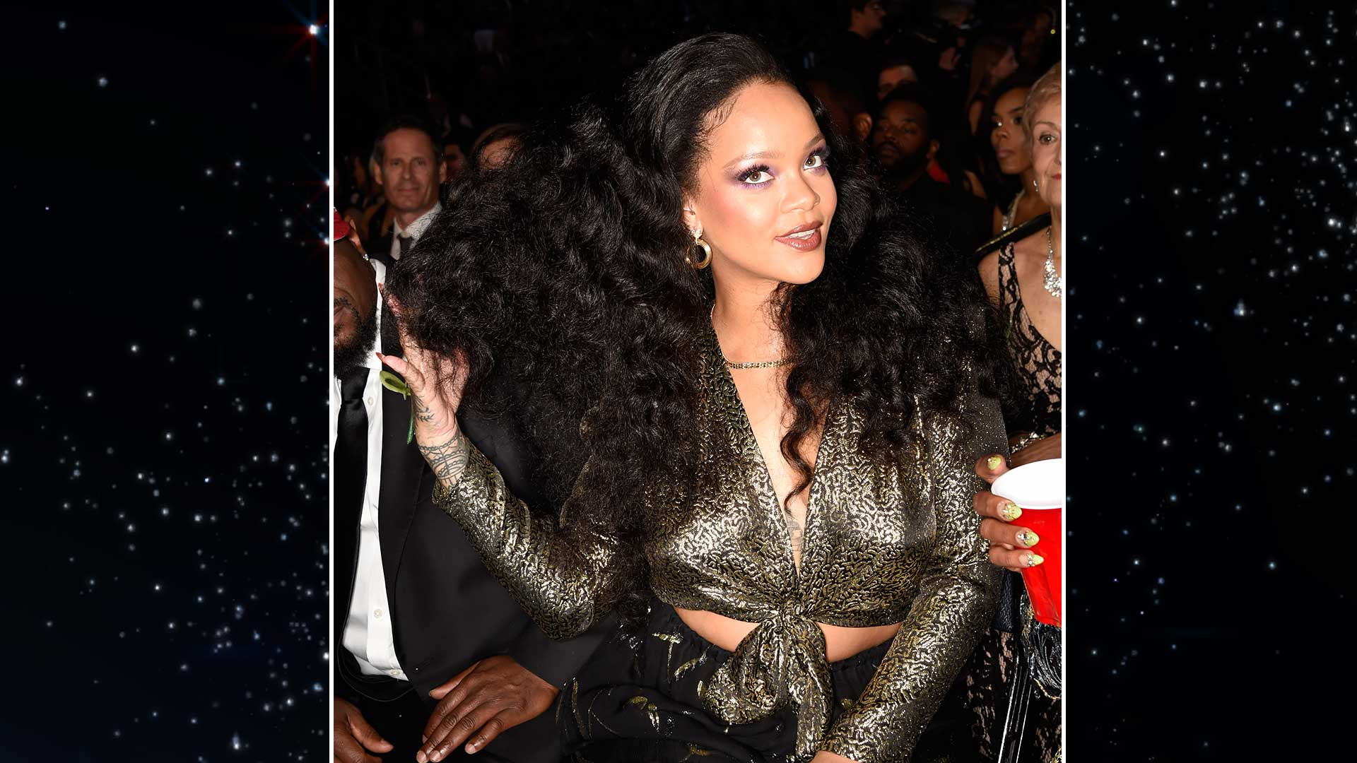 Rihanna offers a classy hair flip we almost certainly do not deserve.
