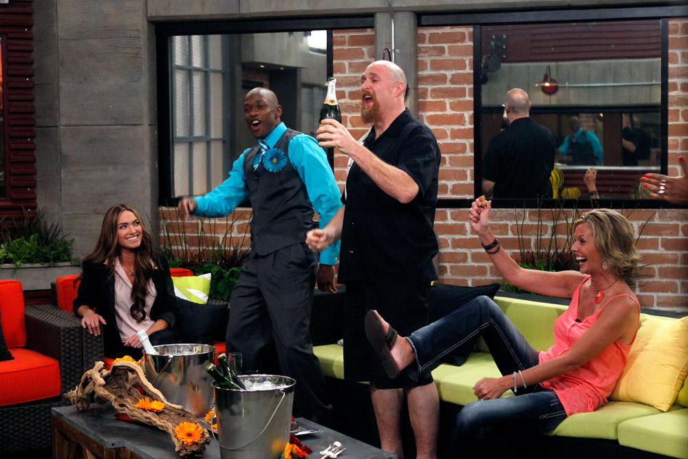 The HouseGuests Celebrate Being in the Big Brother House