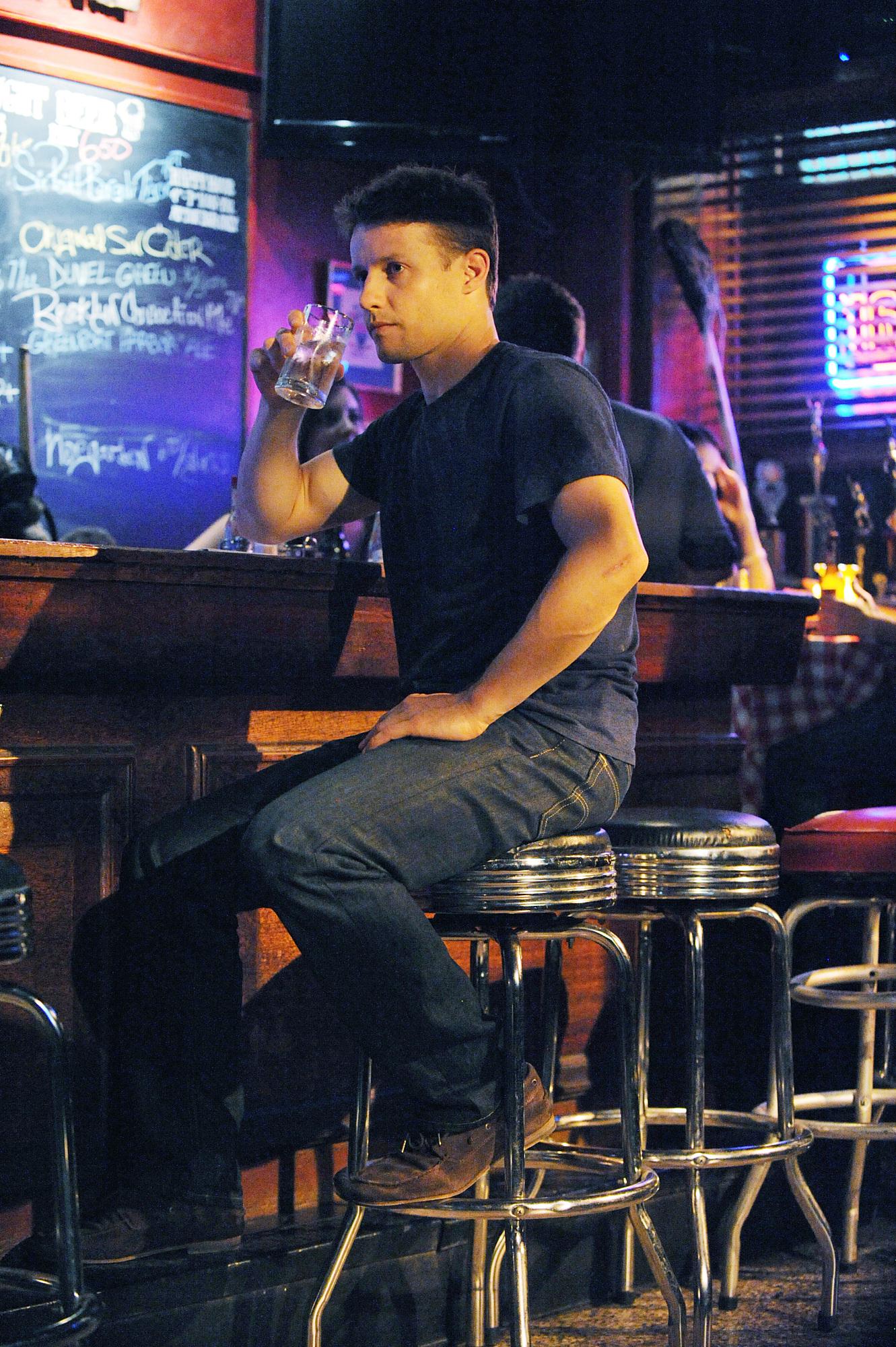 Jamie enjoys a drink