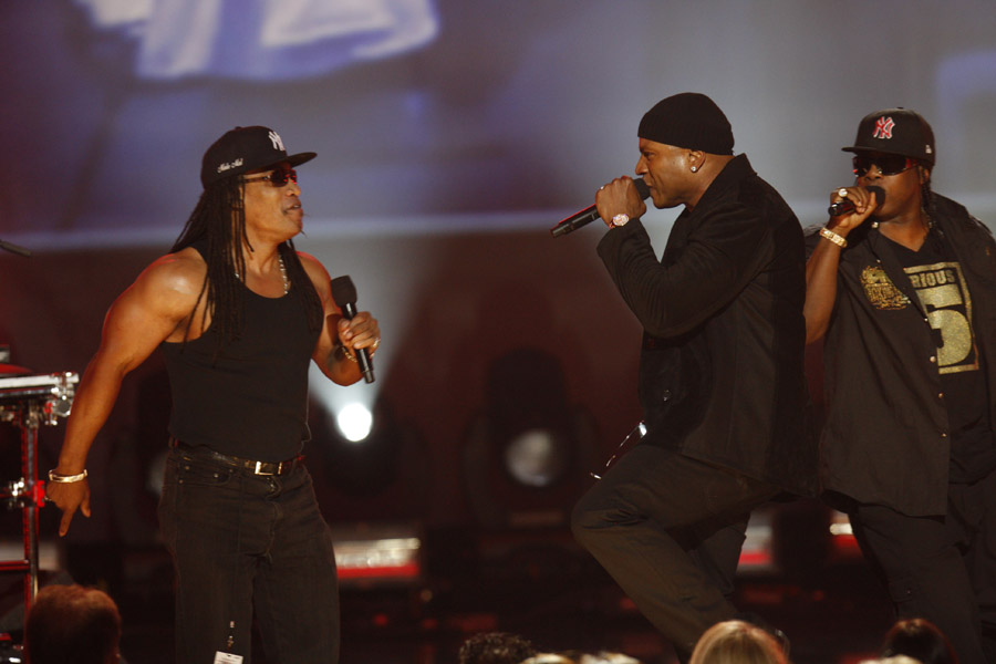 Melle Mel, LL Cool J and Scorpio