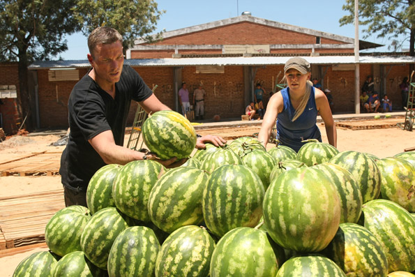 Dave and Rachel Unload Watermelons