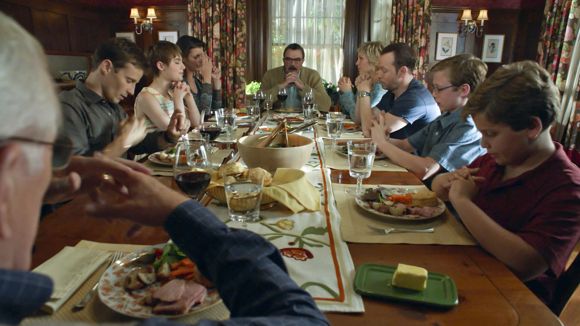 An intimate portrait of the family dinner table.