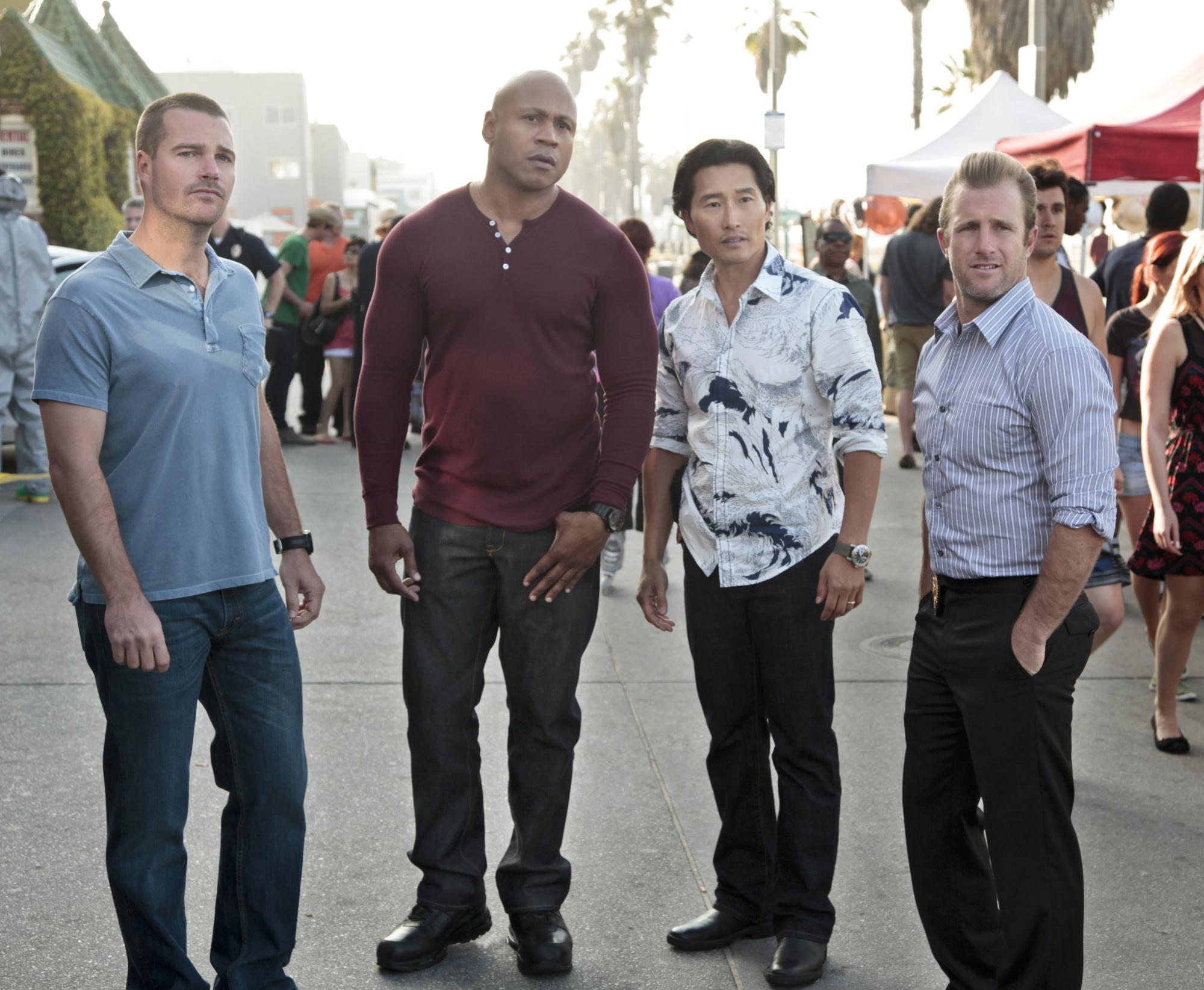 G. Callen, Sam Hanna, Chin Ho Kelly and Danny Williams