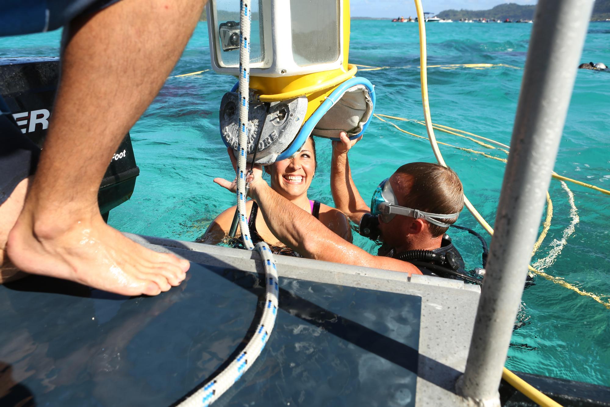 Going underwater