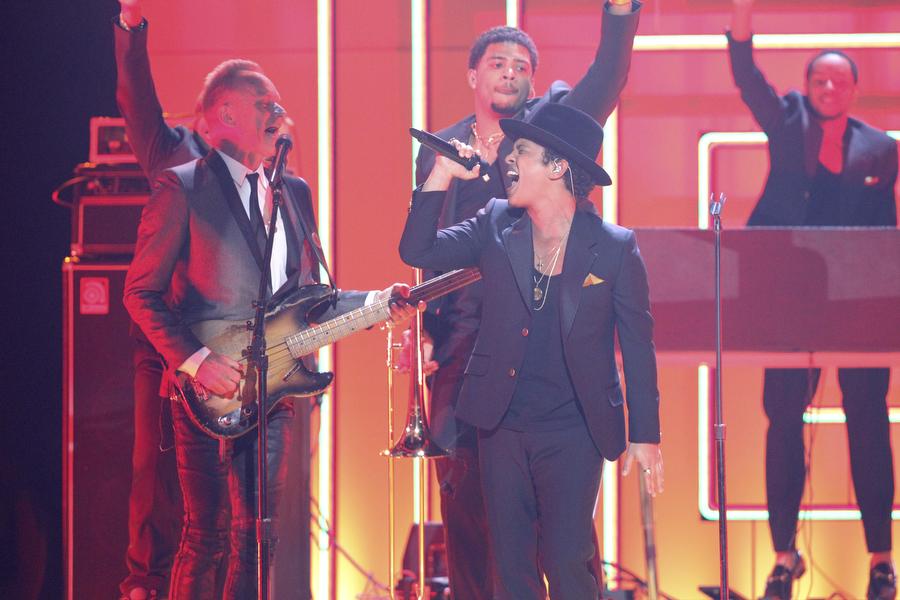 Bruno Mars and Sting