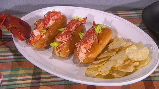Mark Tarbell's Tar's Tavern Lobster Roll with Fried Bologna
