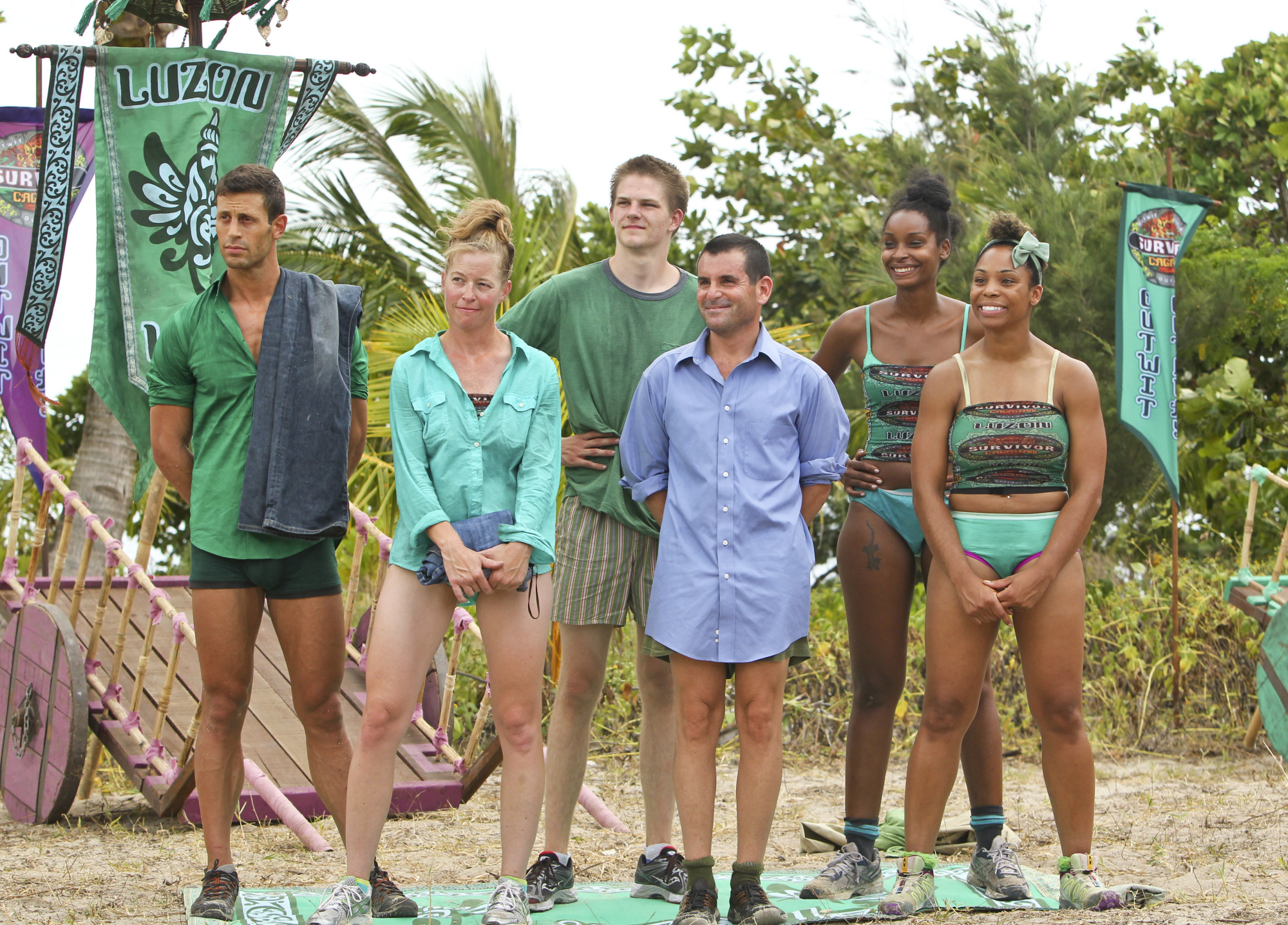 Lining up for the immunity challenge in the Season 28 premiere
