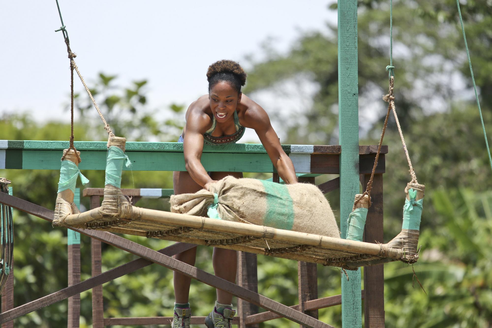 Tasha of the Brains tribe in Season 28 Episode 3