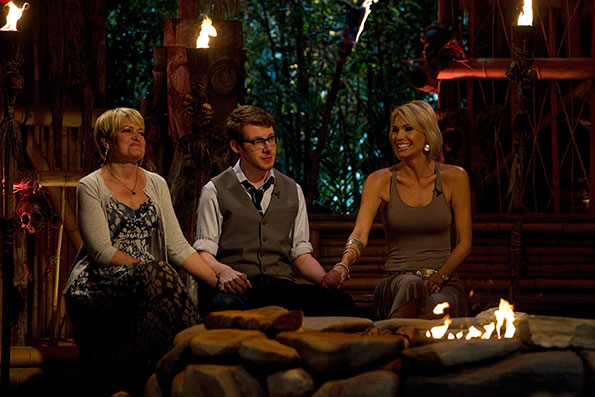 The final three Survivors wait for the votes to be revealed