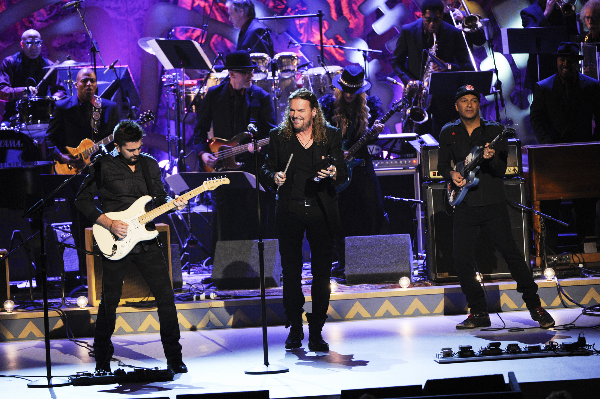 Juanes, Fher Olvera, and Tom Morello