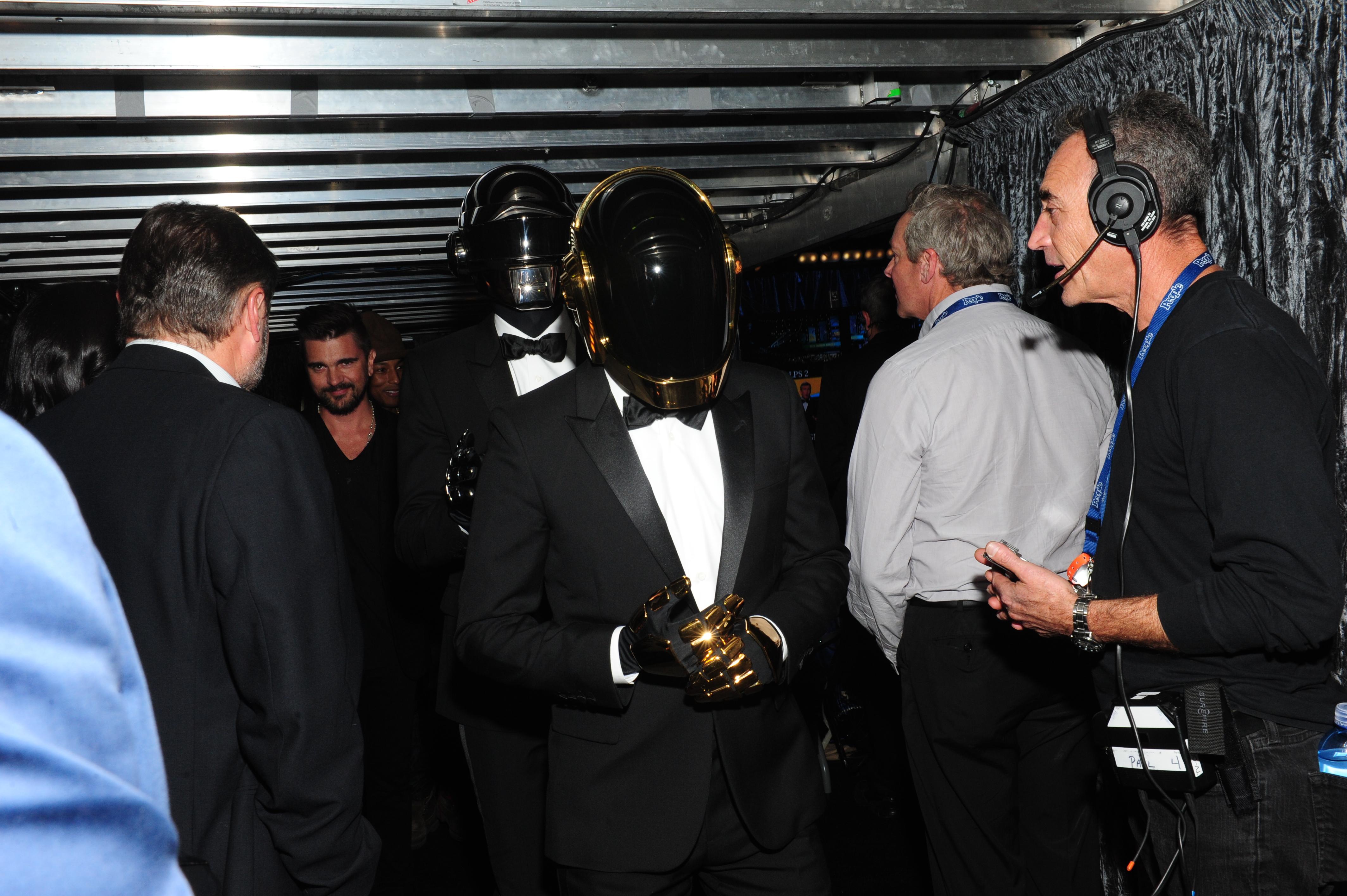 Daft Punk Backstage - GRAMMYs 2014- CBS.com