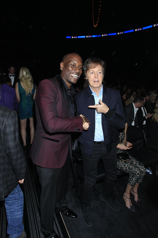 Tyrese and Paul McCartney Backstage - GRAMMYs 2014 - CBS.com
