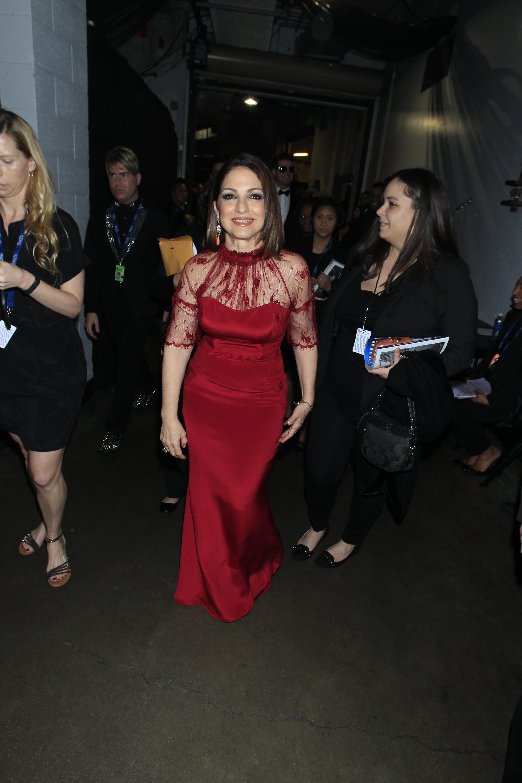 Gloria Estefan Backstage - GRAMMYs 2014 - CBS.com