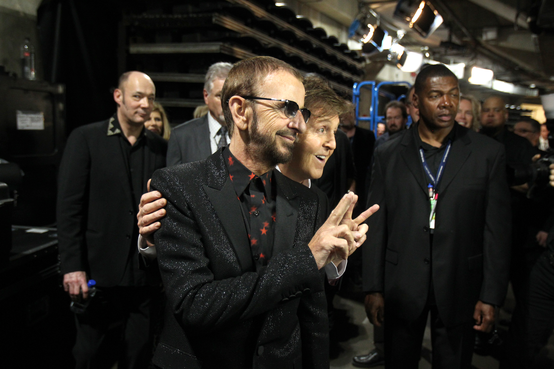 Paul McCartney and Ringo Starr Backstage - GRAMMYs 2014 - CBS.com
