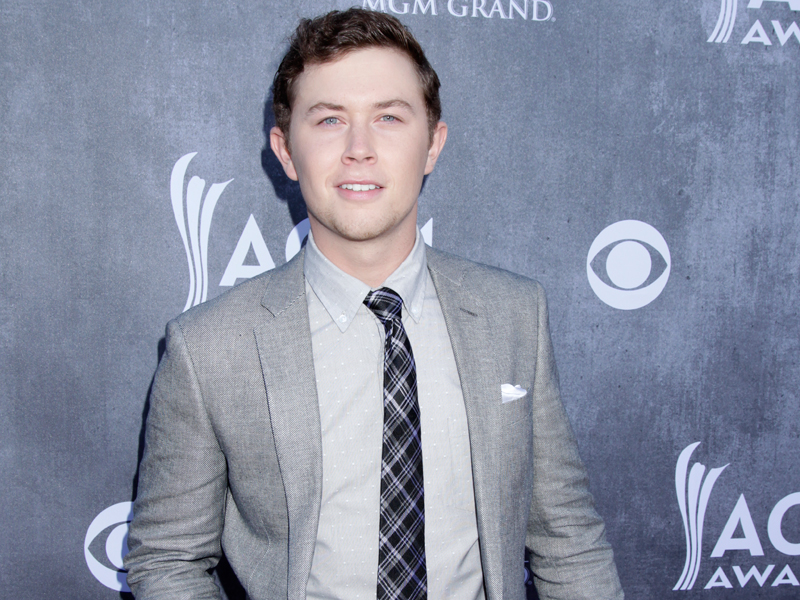 Scotty McCreery on the Red Carpet - 49th ACM Awards