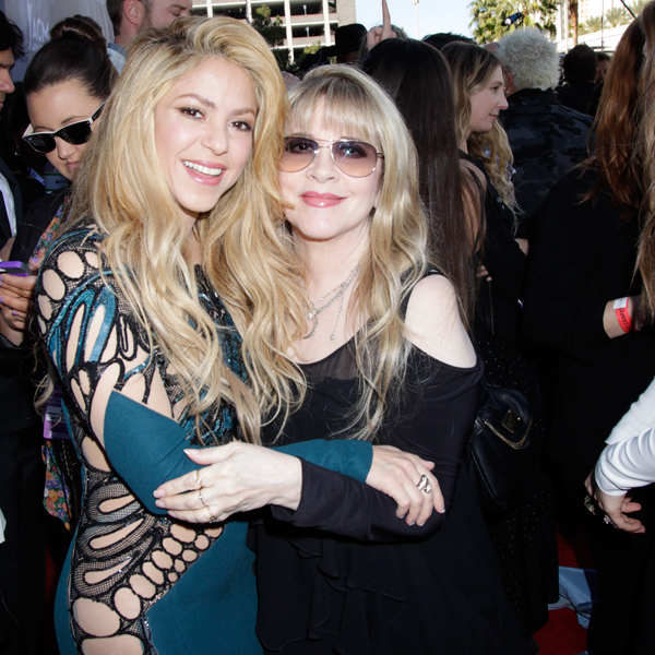 Shakira and Stevie Nicks on the Red Carpet - 49th ACM Awards