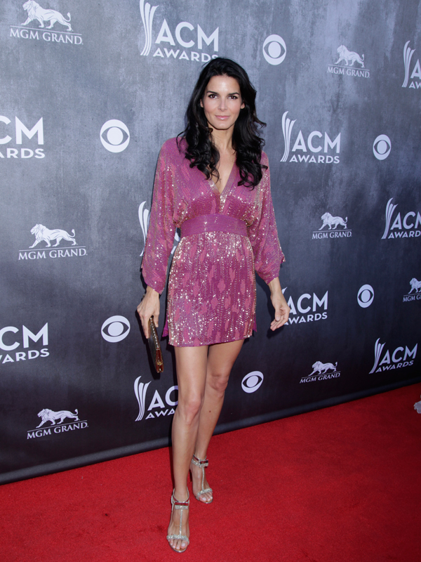 Angie Harmon on the Red Carpet - 49th ACM Awards