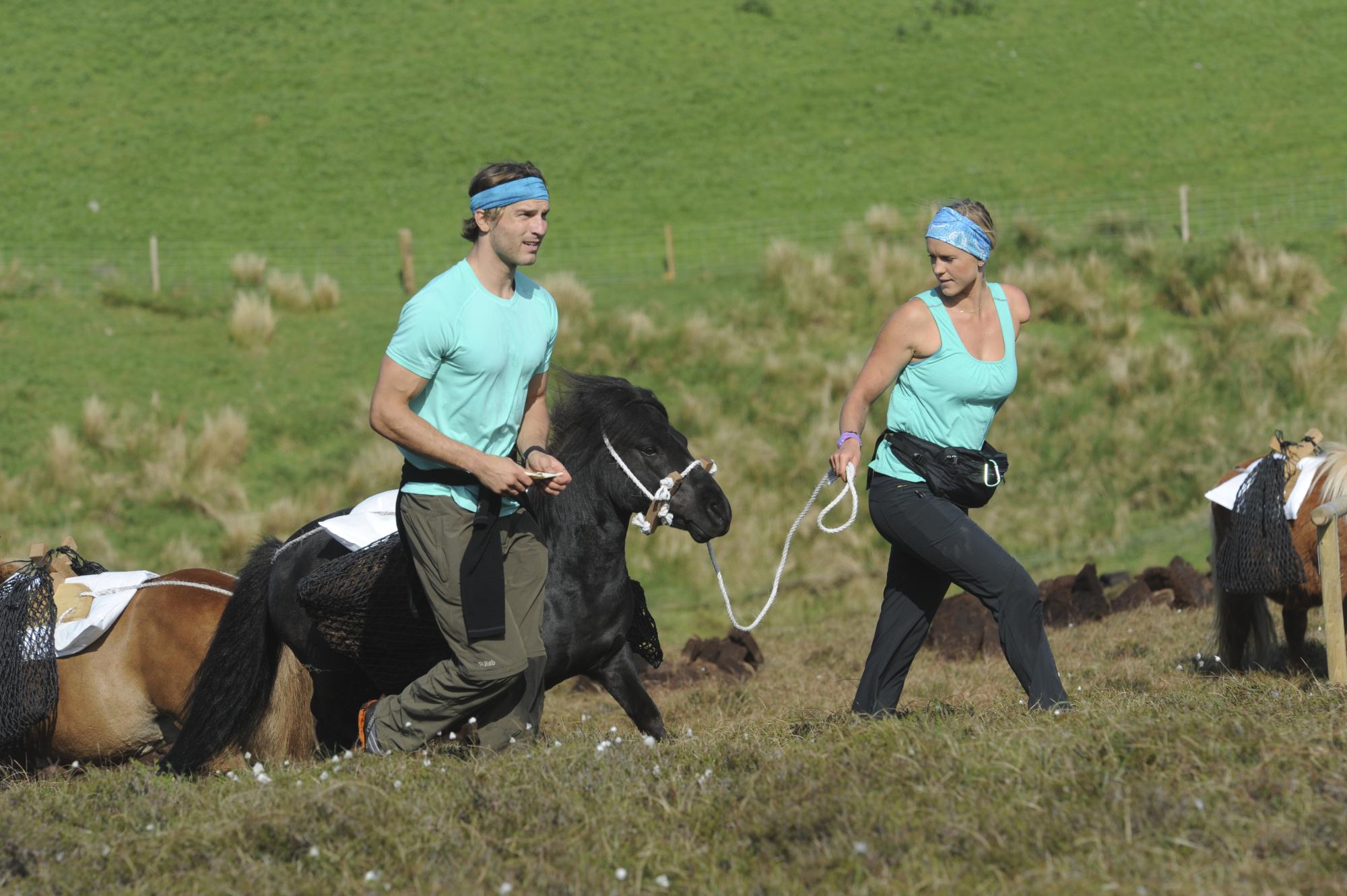 Delivering soil via a Shetland pony
