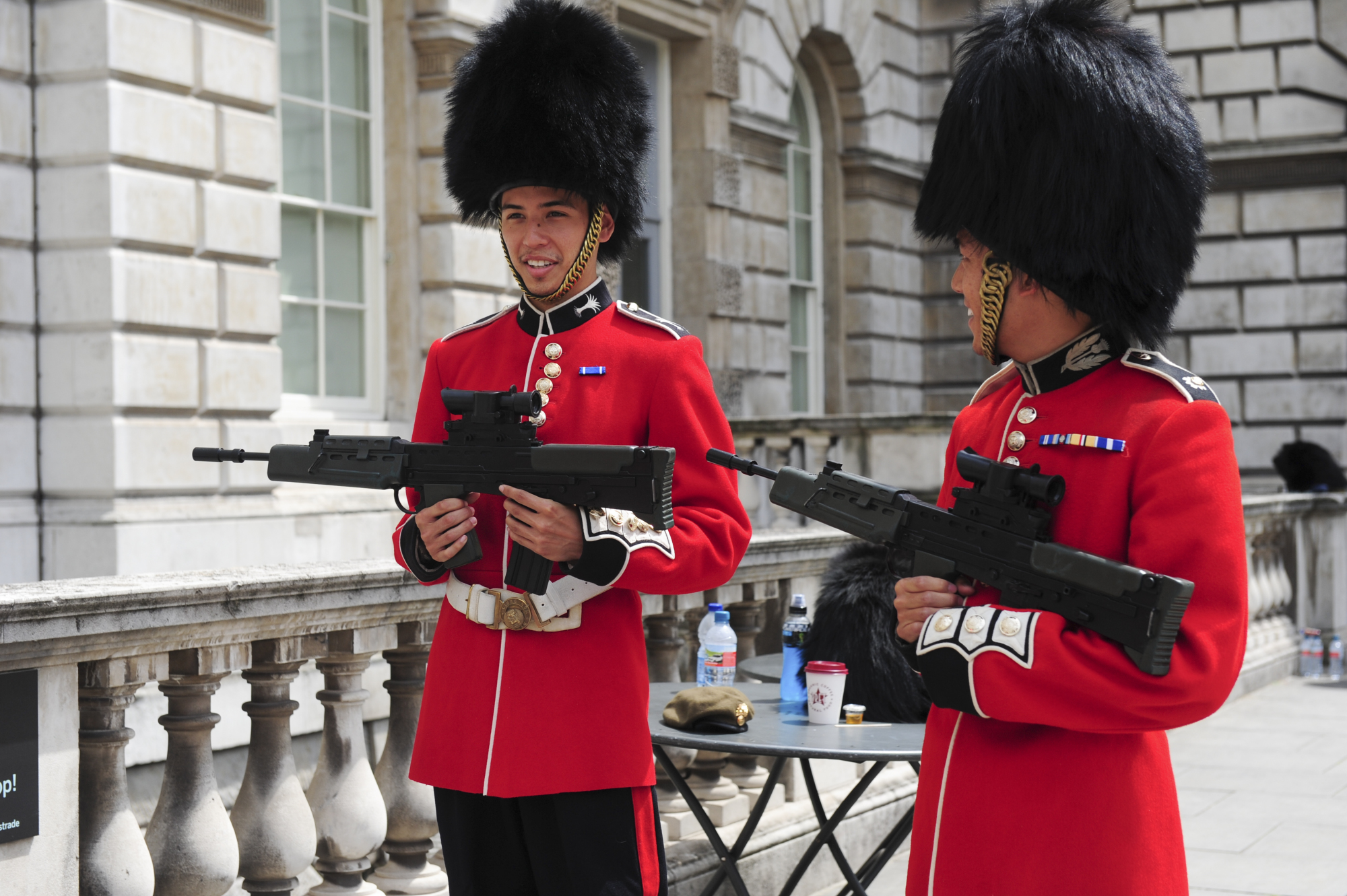Dressed as Queen's Guards