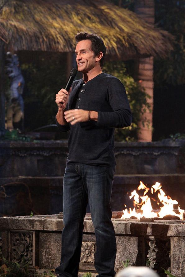 Host Jeff Probst During the Survivor Finale Reunion Show