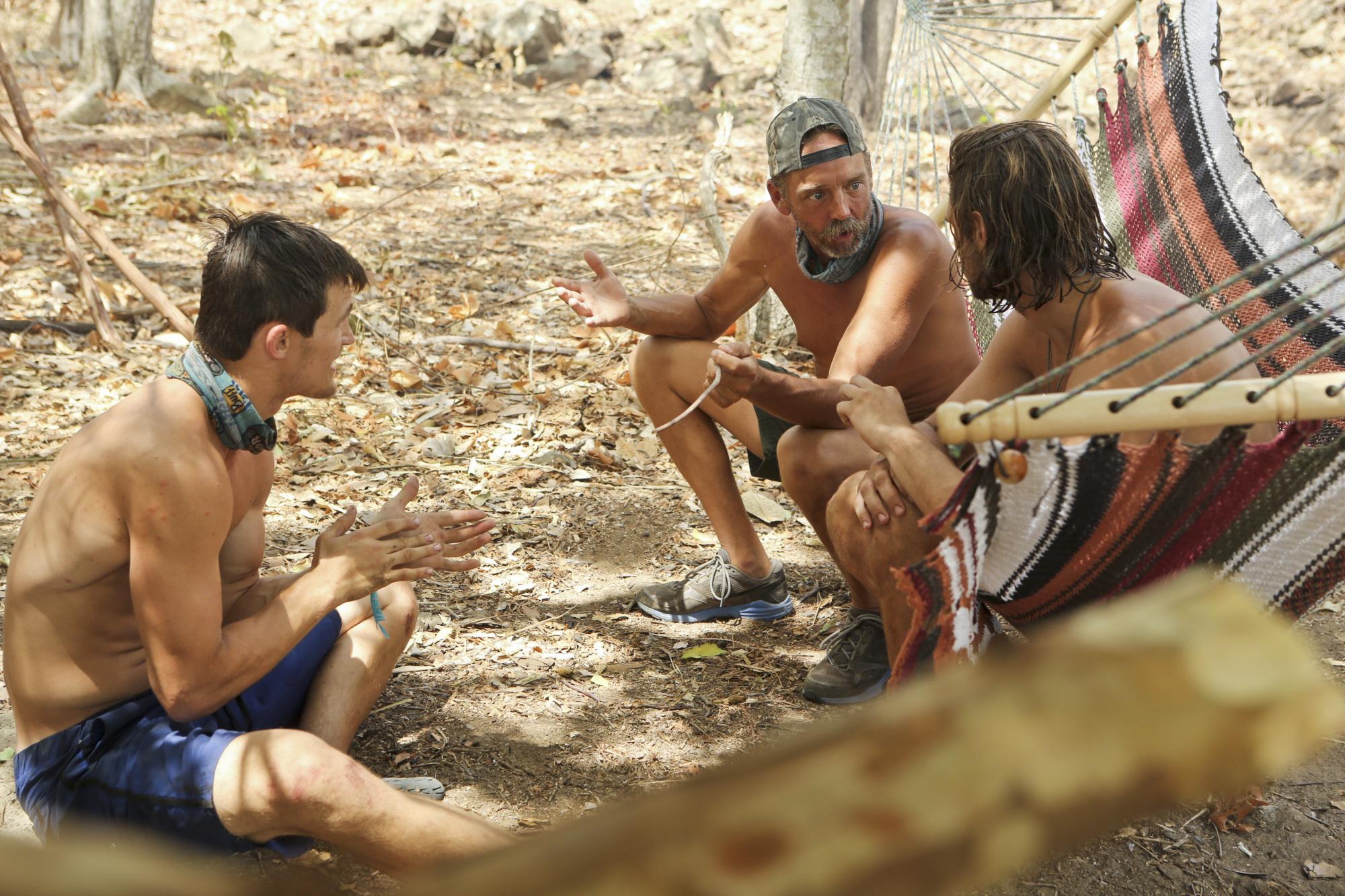 Talking at camp