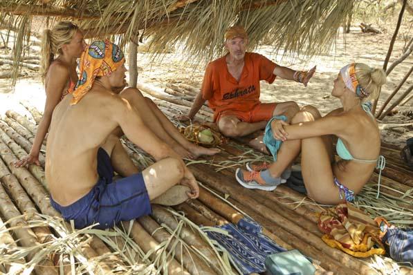 Talking at Coyopa's camp