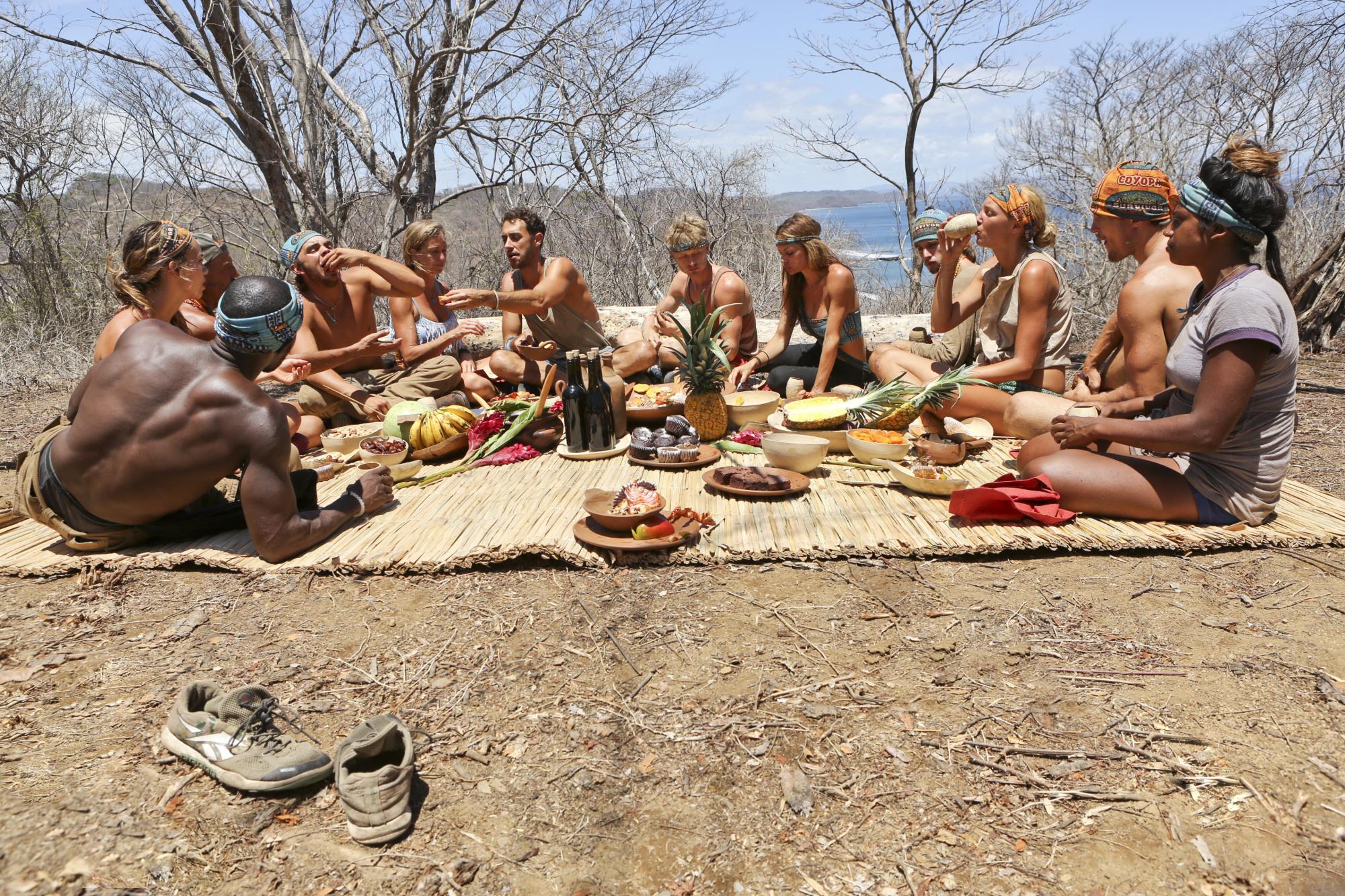 Enjoying a feast