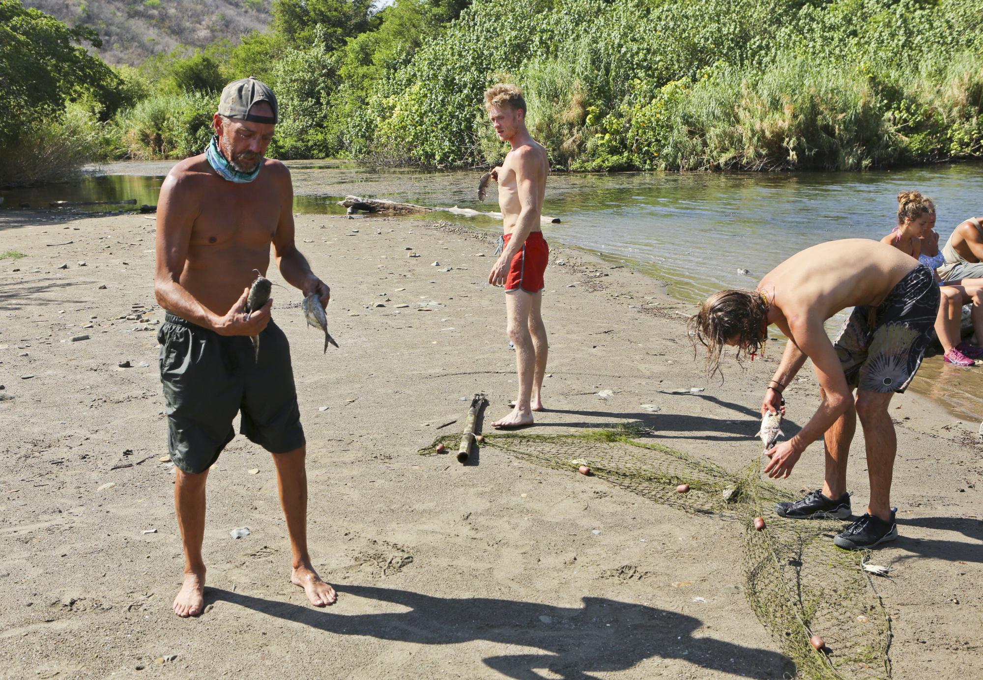 Fishing at camp