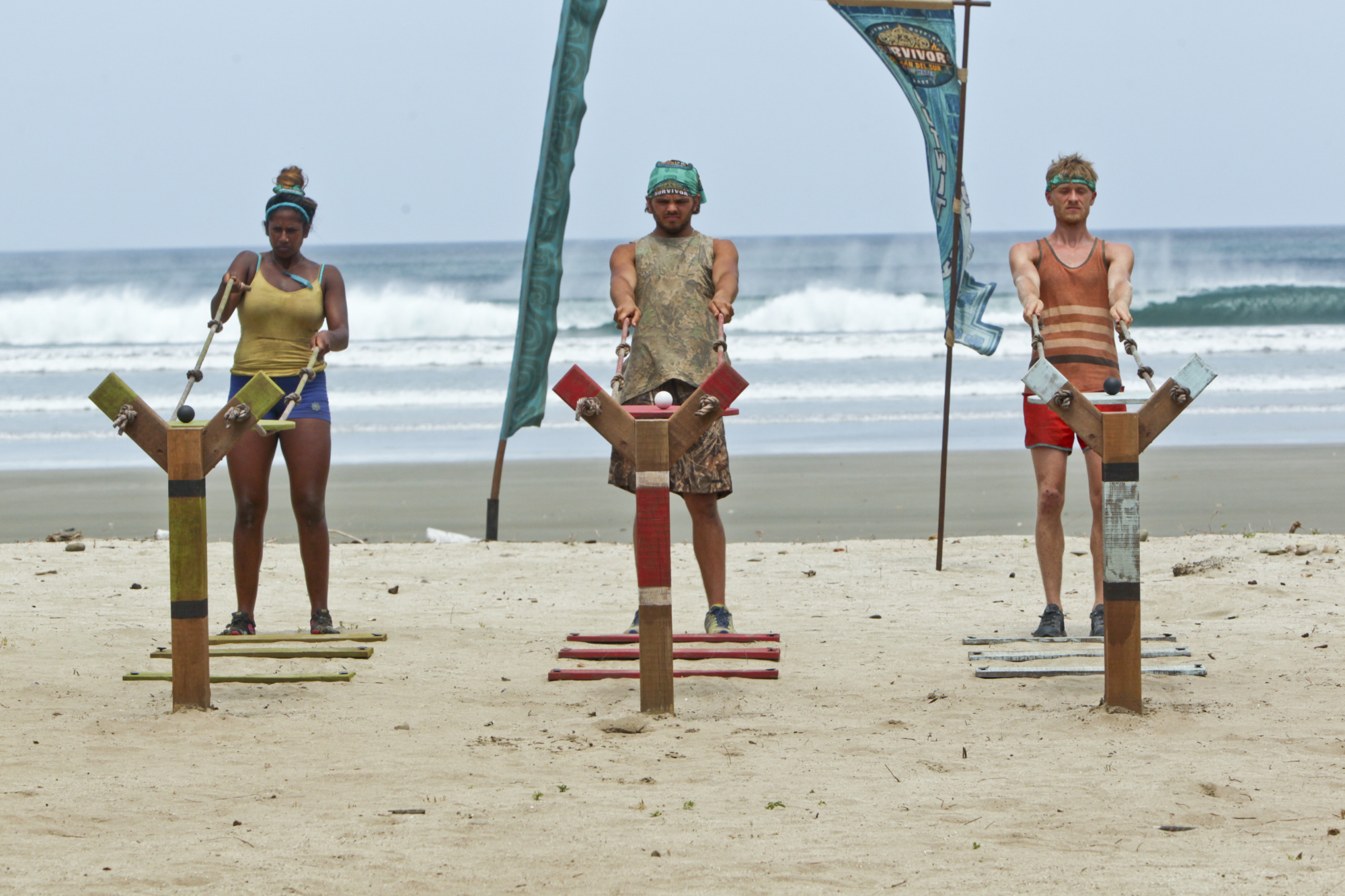 Natalie, Wes and Josh compete