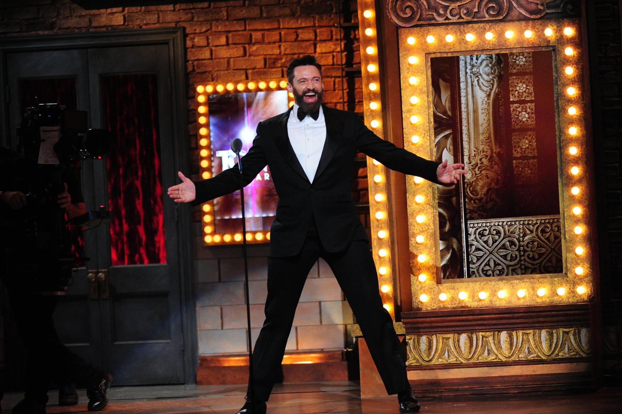 Tony Award-winning actor Hugh Jackman hosts - 2014 Tony Awards