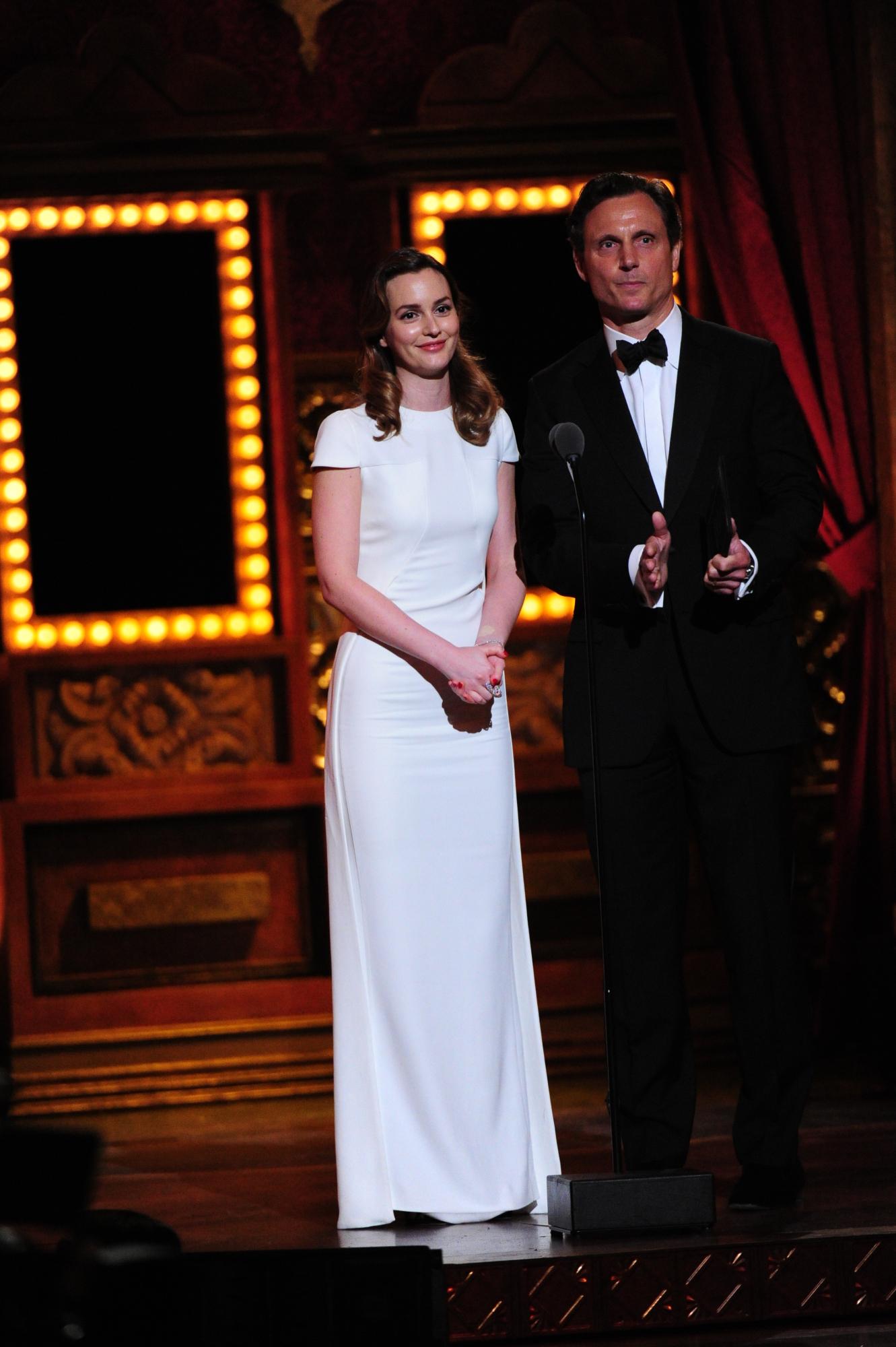 Leighton Meester and Tony Goldwyn - 2014 Tony Awards
