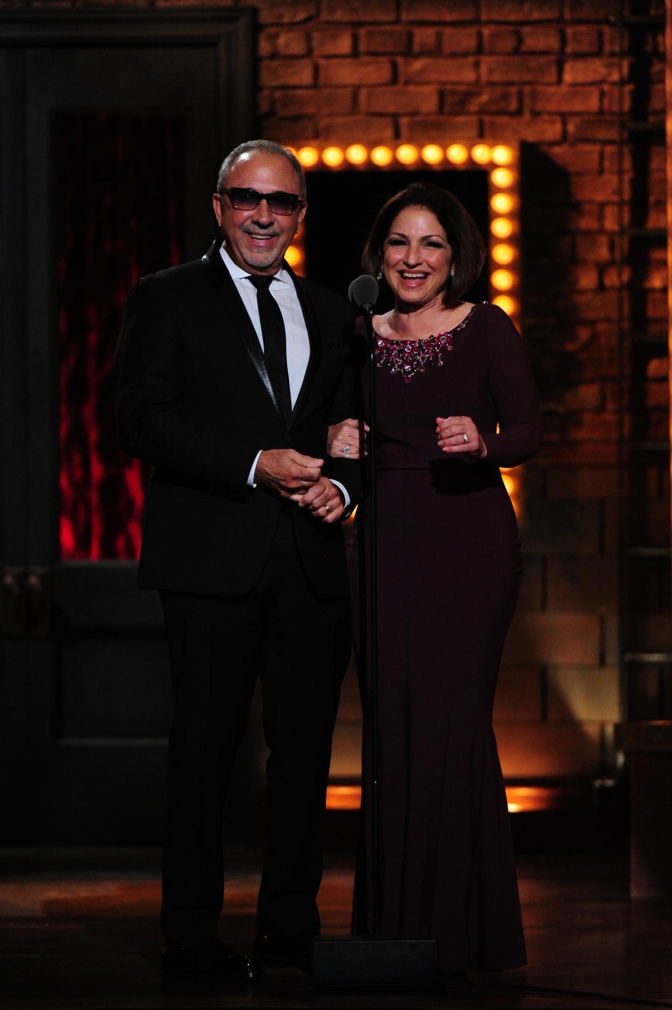 Emilio Estefan and Gloria Estefan - 2014 Tony Awards