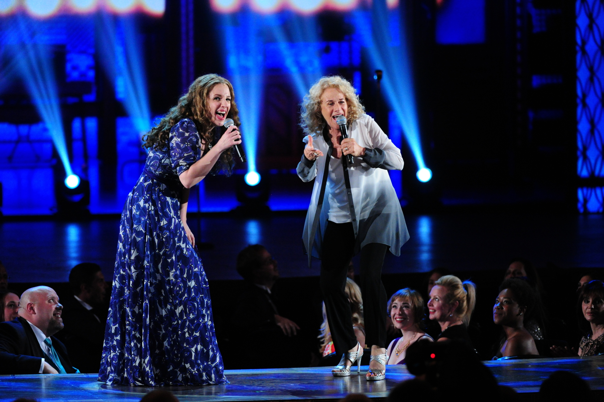 Jessie Mueller and Carole King for Beautiful: The Carole King Musical - 2014 Tony Awards
