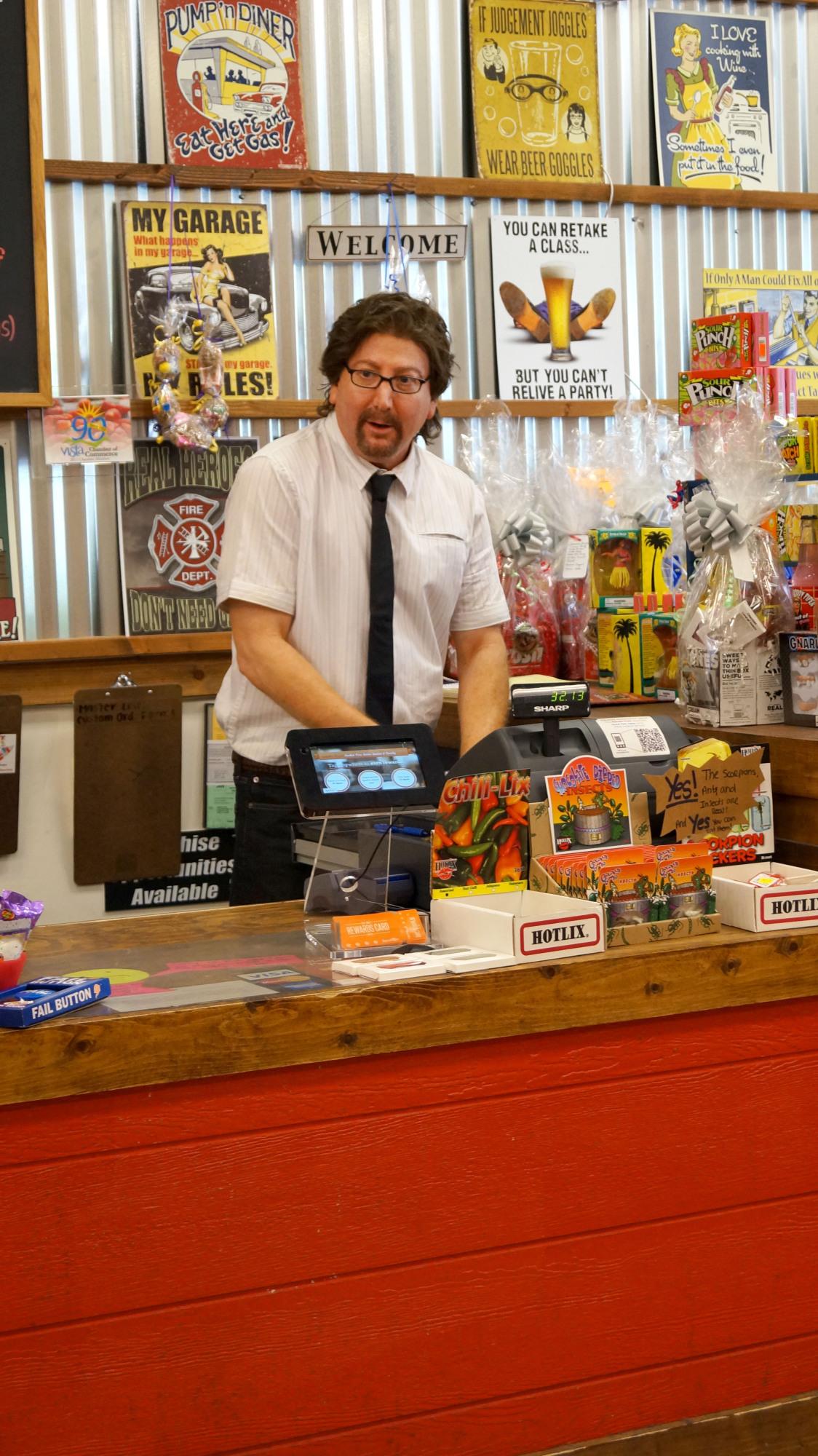 Robert at the register