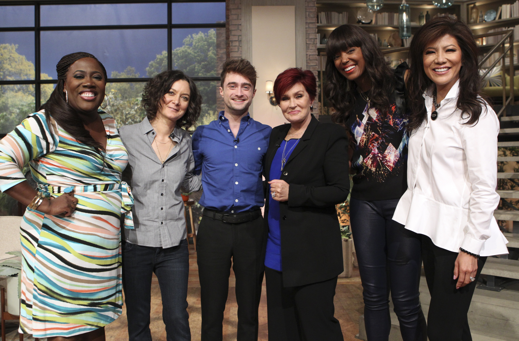 Daniel Radcliffe with the hosts