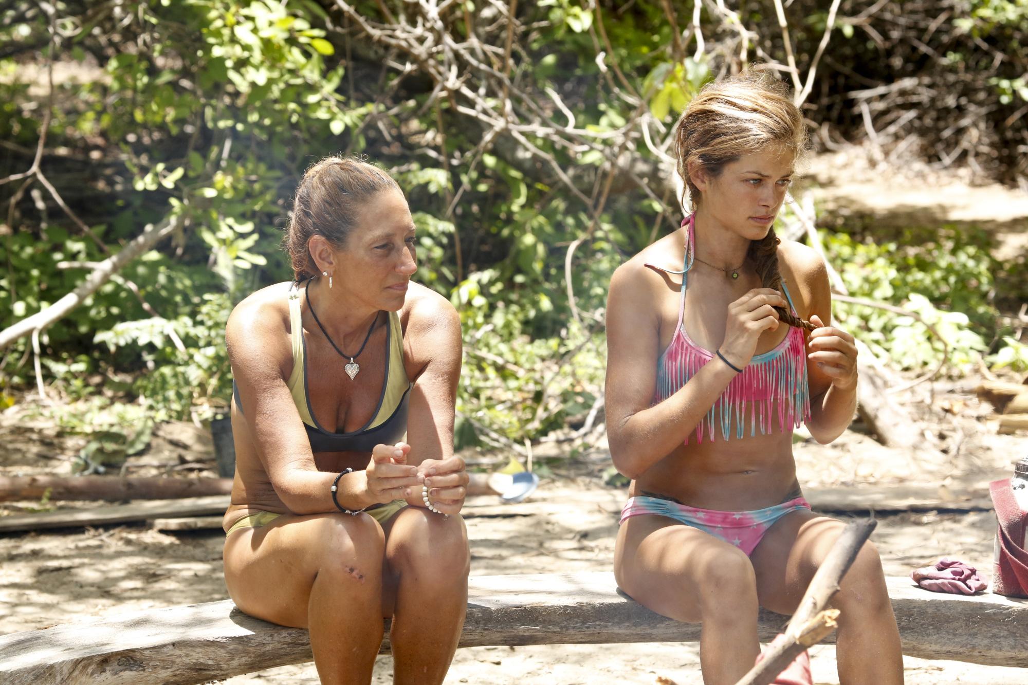 Carolyn and Hali sit together