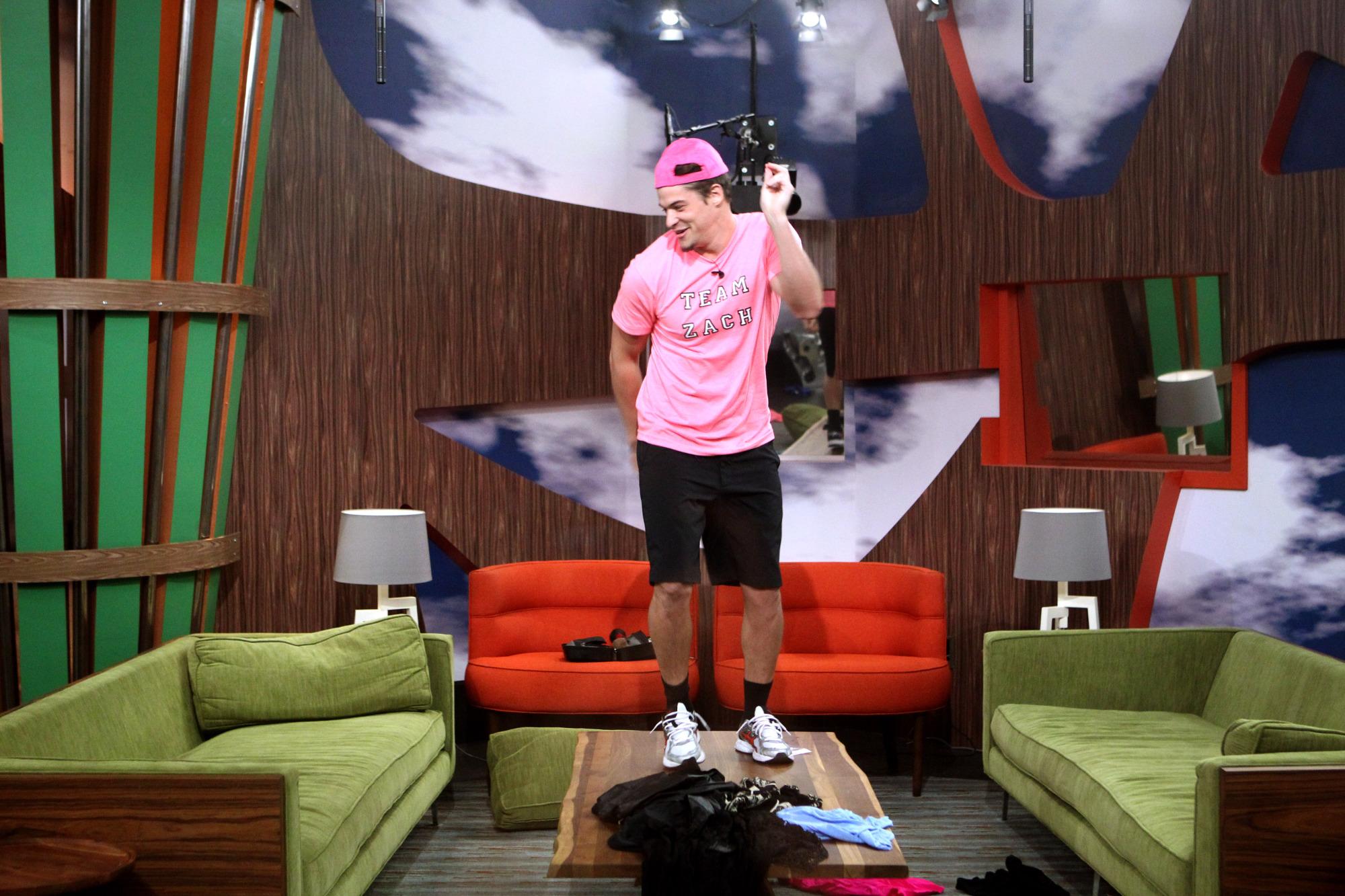 Zach dances on a table