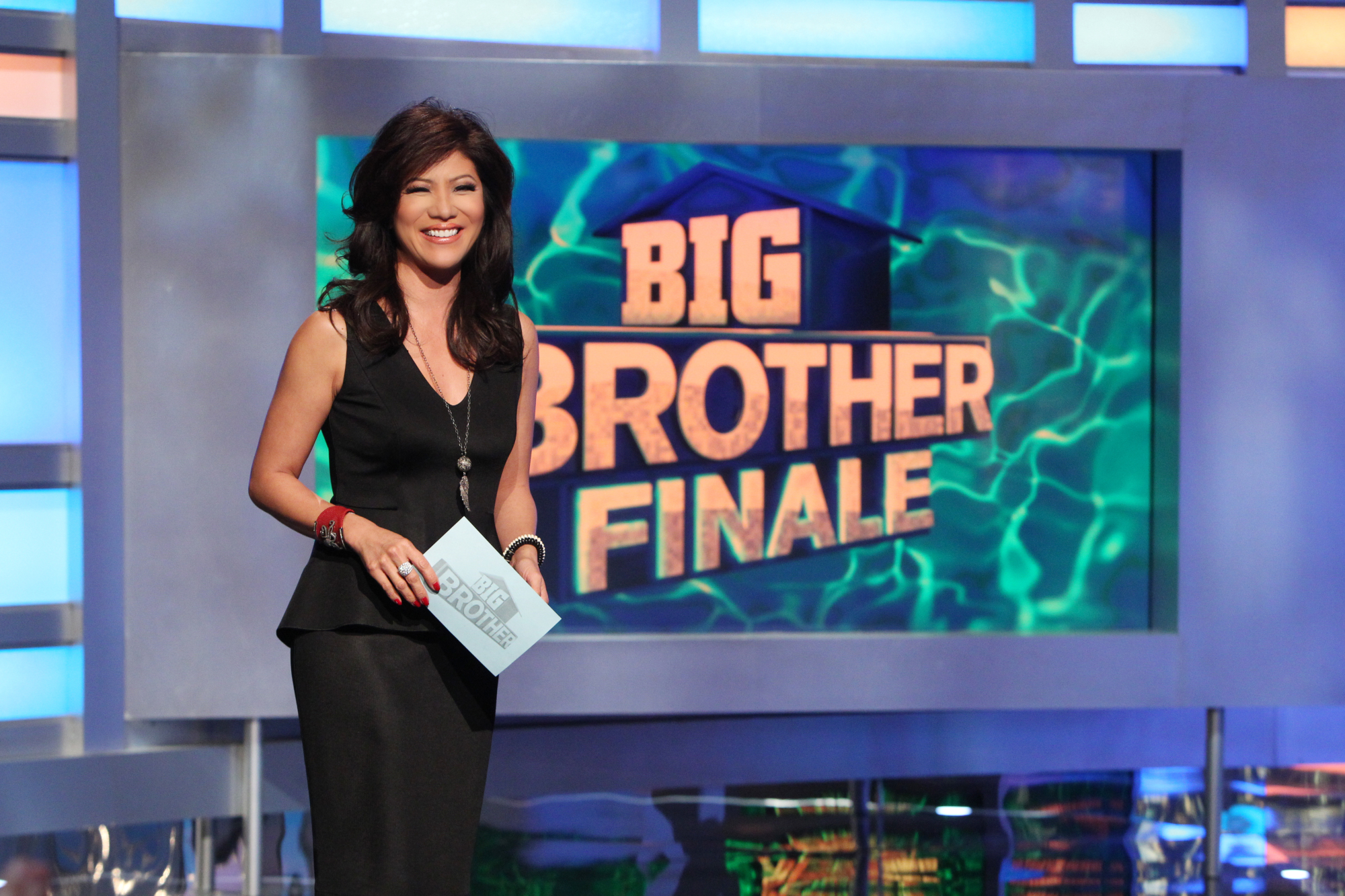 Julie at the Big Brother finale