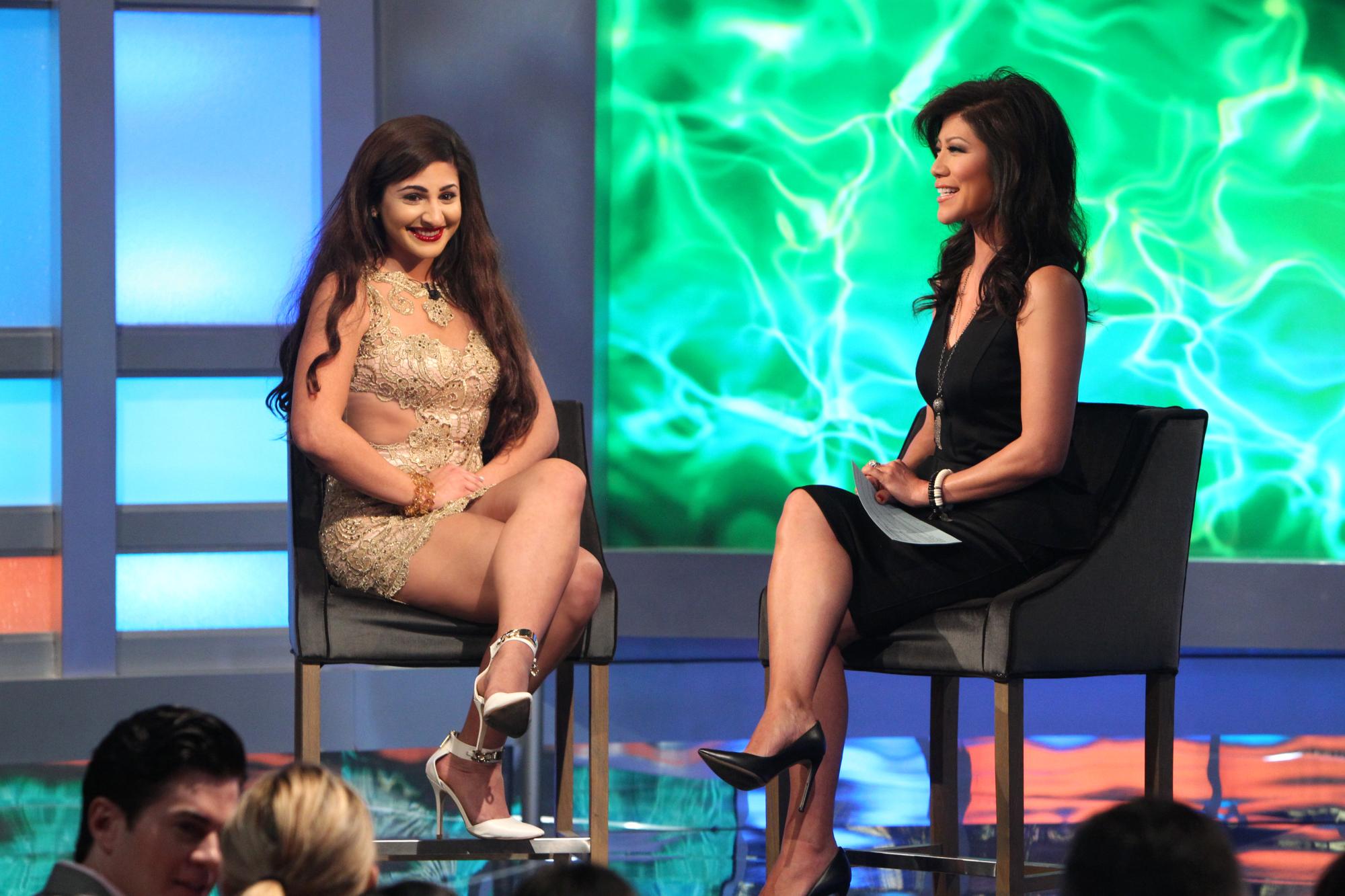 Victoria talks to Julie