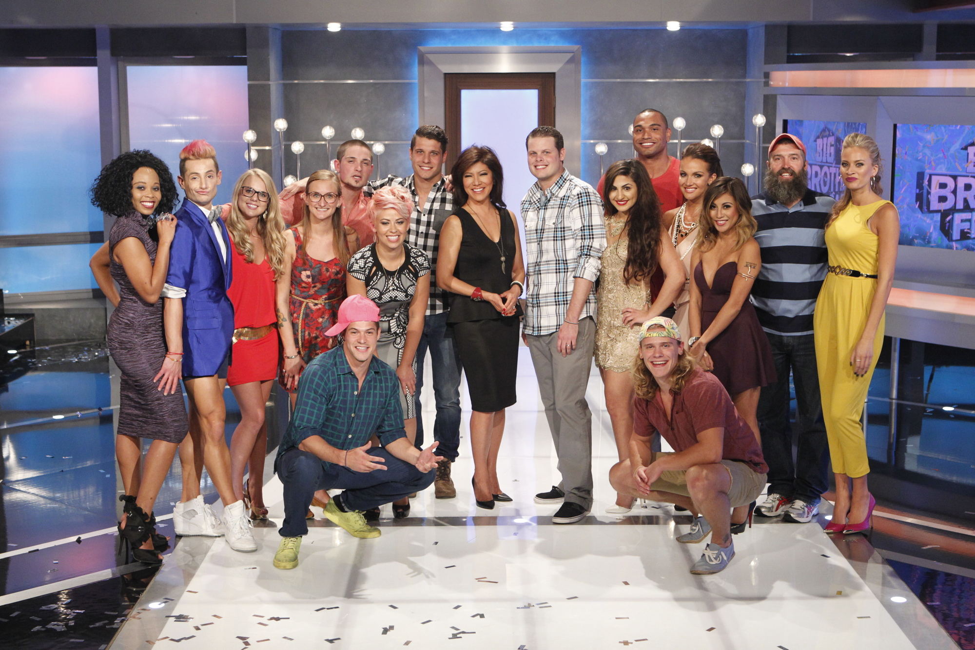 The houseguests and Julie