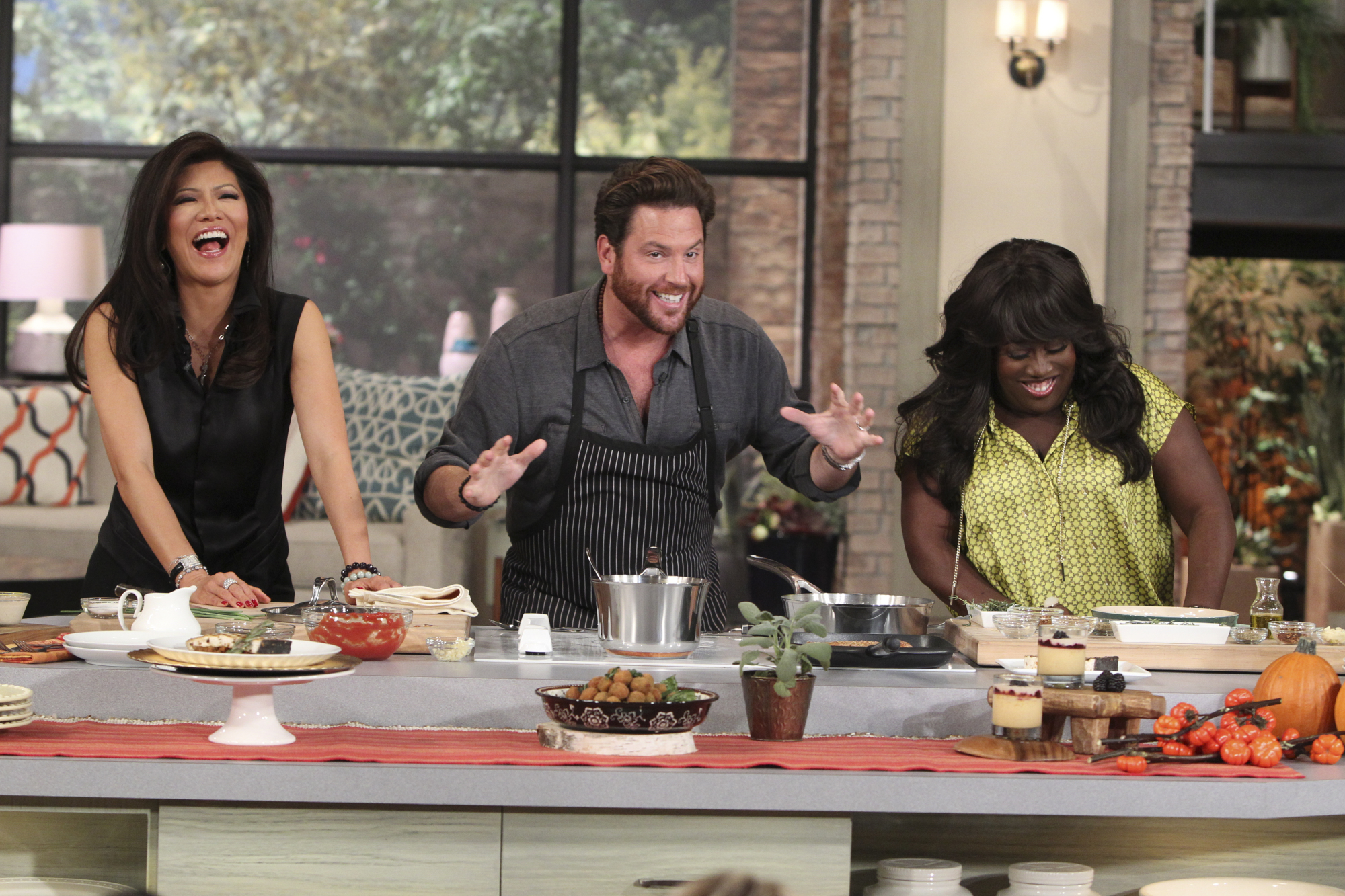 5. Sheryl and Julie cooking with Scott Conant.