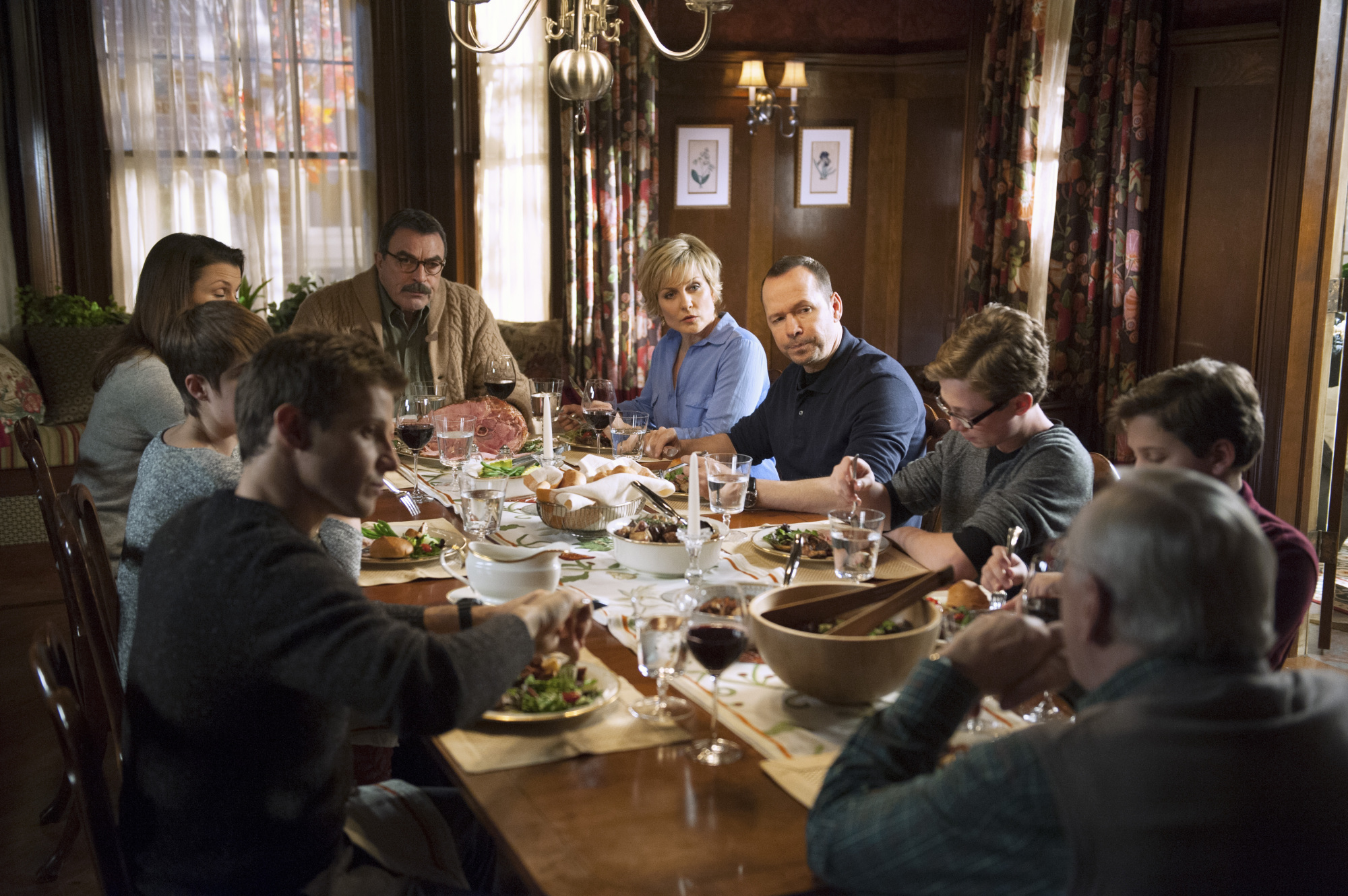 Family dinners are often the place where the exchange of values and ideas occurs between the generations.