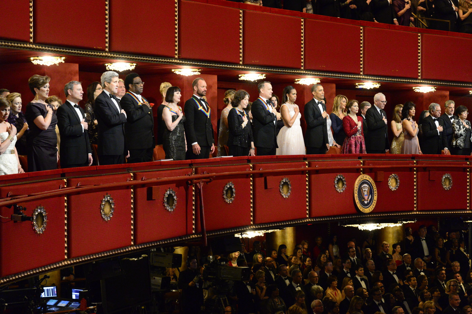 The VIP Section of 37th Annual Kennedy Center Honors