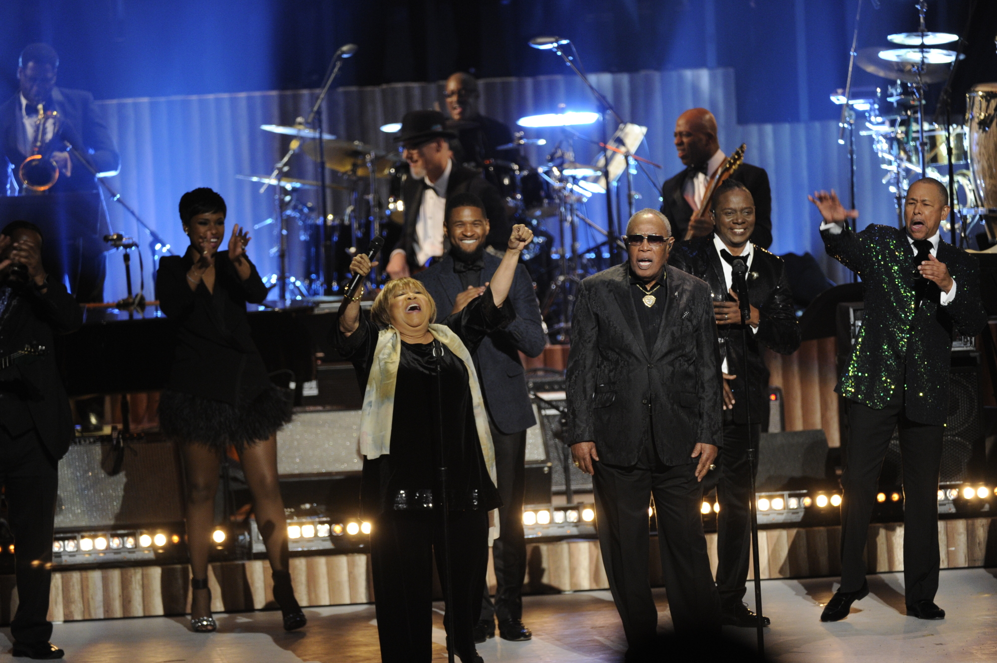 Jennifer Hudson, Mavis Staples, Usher, Sam Moore, and Earth, Wind, & Fire