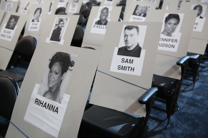 Check out where your favorite stars will be sitting.