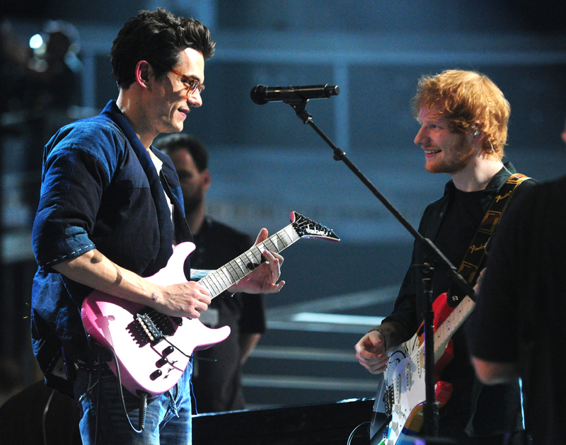 John Mayer and Ed Sheeran Rehearse